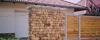 Telki, kerítés - csobánkai mediterrán kő