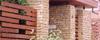 Kerítés kőburkolása